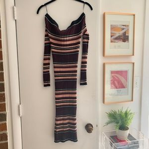 Cupcakes and Cashmere Ribbed Fitted Midi